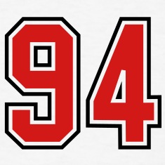94 sports jersey football number T-SHIRT