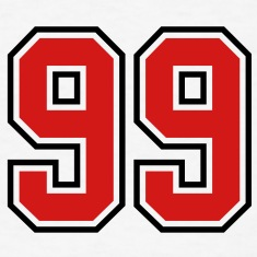 98 sports jersey football number T-SHIRT