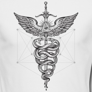 Caduceus_White - Men's Long Sleeve T-Shirt by Next Level