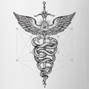 Caduceus_black - Coffee/Tea Mug