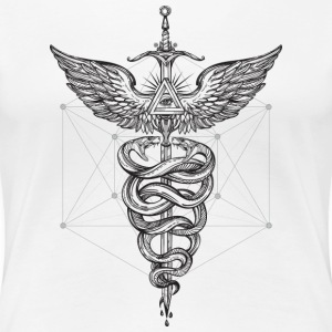 Caduceus_black - Women's Premium T-Shirt