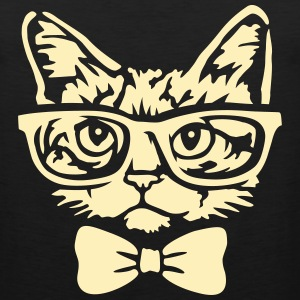 Cat with bow tie Tank Tops - Men's Premium Tank