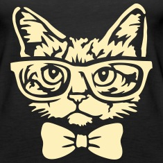 Cat with bow tie Tanks