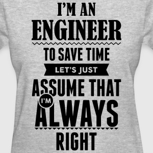 I Am An Engineer To Save Time.... Women's T-Shirts - Women's T-Shirt
