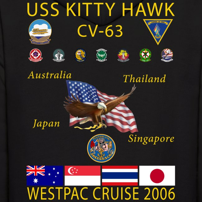 USS KITTY HAWK CV-63 2006 CRUISE HOODIE