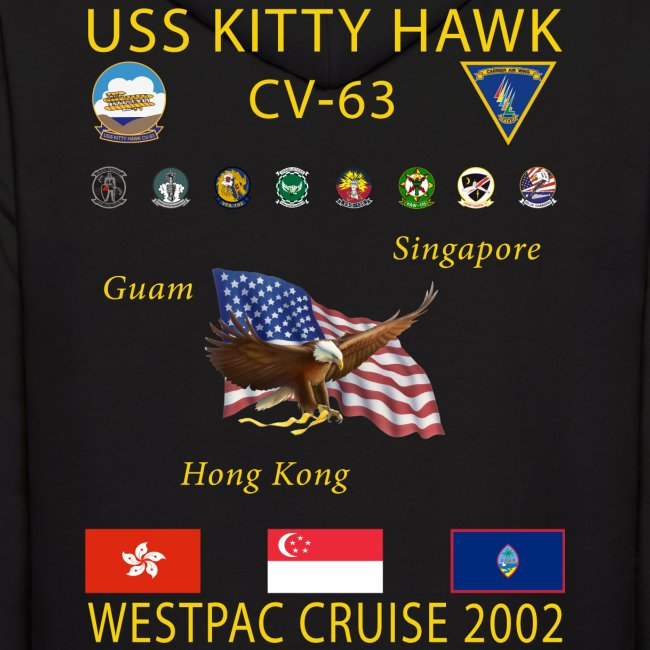 USS KITTY HAWK CV-63 2002 CRUISE HOODIE