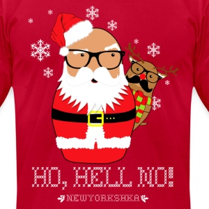 Shady Santa - Men's T-Shirt by American Apparel