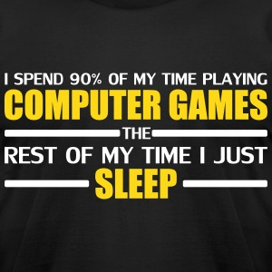 Computer Games Gold T-Shirts - Men's T-Shirt by American Apparel