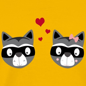 Racoons in love T-Shirts - Men's Premium T-Shirt
