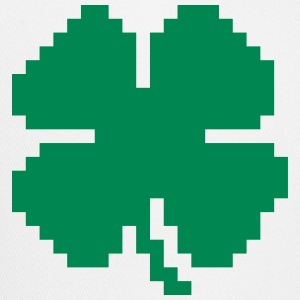 8 Bit Luck Pixel Four Leaf Clover Caps - Trucker Cap