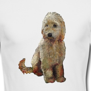 Golden Doodle Dog Illustration - Men's Long Sleeve T-Shirt by Next Level