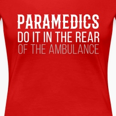 Paramedics in the rear of the Ambulance T-shirt Women's T-Shirts