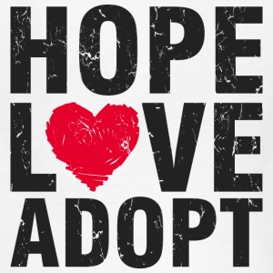 Hope Love Adopt Kids' Shirts - Kids' T-Shirt