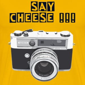 SAY CHEESE! Yashica camera - Men's Premium T-Shirt