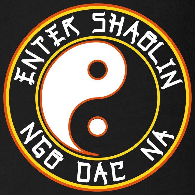 Enter Shaolin Baby Short Sleeve T-shirt Onsie in Black (Front Logo)