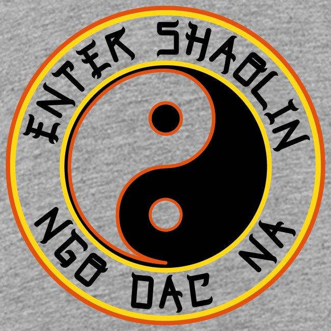 Enter Shaolin Toddler Short Sleeve T-shirt in Heather Gray (Front Logo in Black Lettering)