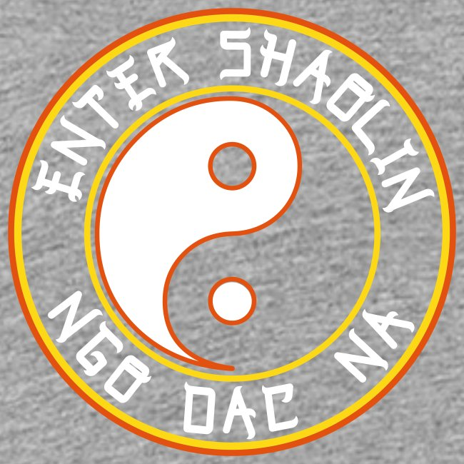 Enter Shaolin Kids T-Shirt in Heather Gray (ES + Ngo Dac Na in White Lettering)