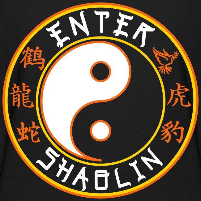 Enter Shaolin Kids Long Sleeve T-Shirt in Black (Front Logo + Back Logo)