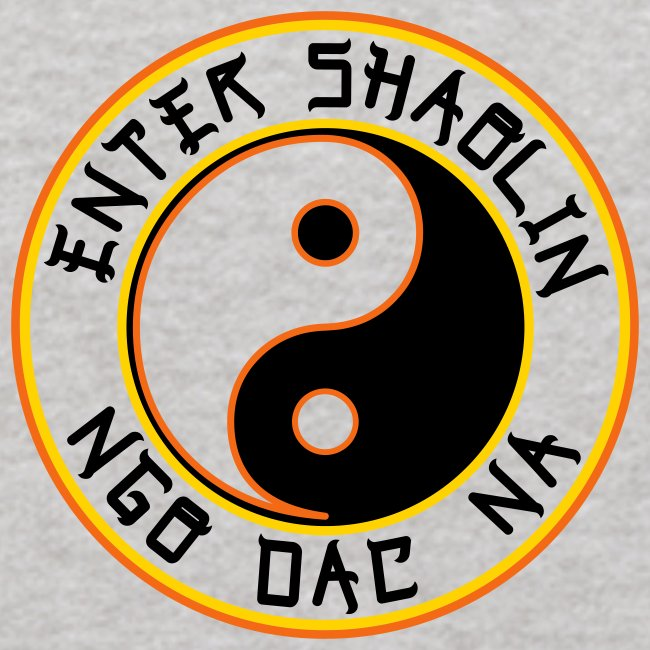 Enter Shaolin Kids Long Sleeve T-Shirt in Heather Gray (Front Logo + Back Logo in Black Lettering)