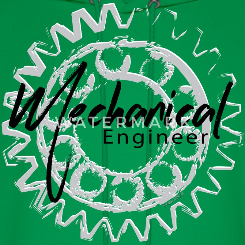 Mechanical Engineer Gear Sketch Hoodies - Men's Hoodie