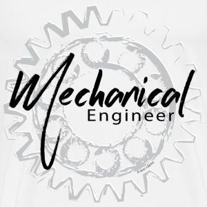 Mechanical Engineer Gear Sketch T-Shirts - Men's Premium T-Shirt