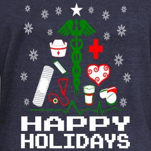 Nurse Christmas Tree Long Sleeve Shirts - Women's Wideneck Sweatshirt