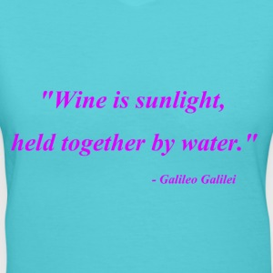 Wine is sunlight - Women's V-Neck T-Shirt