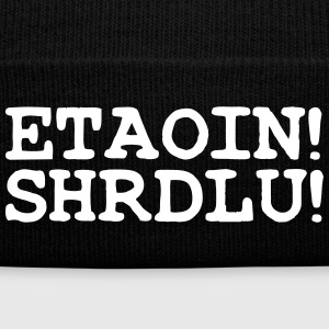ETAOIN! SHRDLU! Caps - Knit Cap with Cuff Print