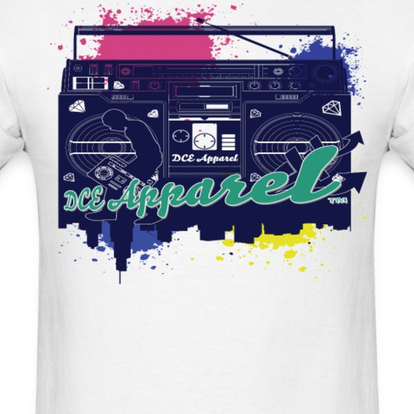Retro Boombox  T-Shirts - Men's T-Shirt