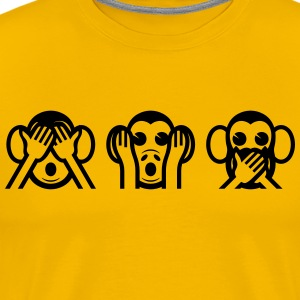 3 Wise Monkeys Emoticon T-Shirts - Men's Premium T-Shirt