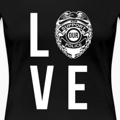 Love Police Policeman T-shirt Women's T-Shirts
