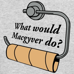 what would macgyver do Long Sleeve Shirts - Men's Long Sleeve T-Shirt by Next Level
