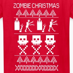 zombie christmas Kids' Shirts