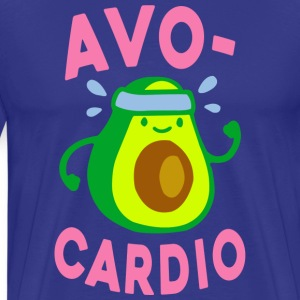 Funny Gym Shirt - AVOCARDIO  - Men's Premium T-Shirt