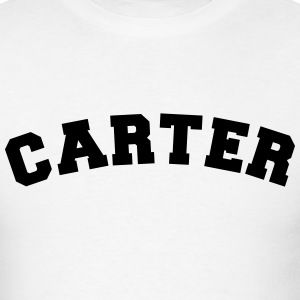 carter name surname sports jersey curved t-shirt - Men's T-Shirt