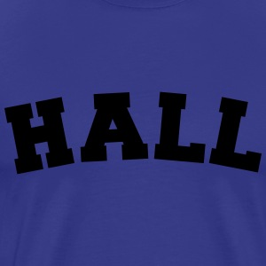 hall name surname sports jersey curved t-shirt - Men's Premium T-Shirt