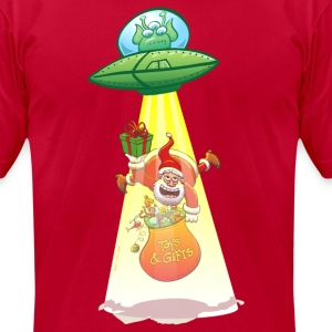Santa Claus Abducted by an Alien T-Shirts - Men's T-Shirt by American Apparel