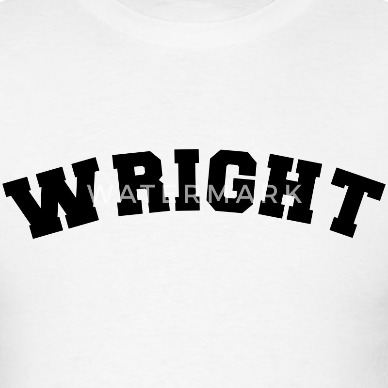 wright name surname sports jersey curved t-shirt - Men's T-Shirt