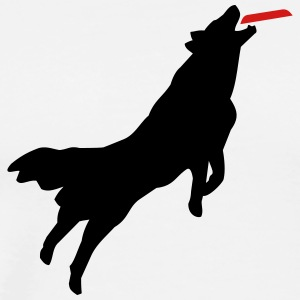 Dog Frisbee T-Shirts - Men's Premium T-Shirt
