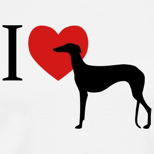 I love Galgo T-Shirts - Men's Premium T-Shirt