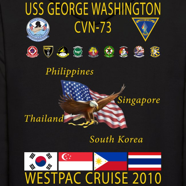 USS GEORGE WASHINGTON 2010 CRUISE HOODIES