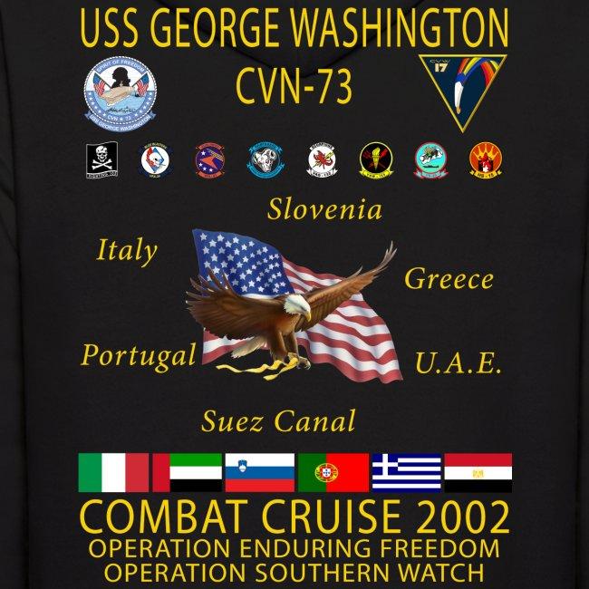 USS GEORGE WASHINGTON 2002 CRUISE HOODIE
