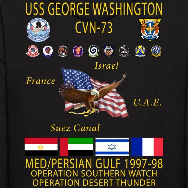 USS GEORGE WASHINGTON 1997-98 CRUISE HOODIE