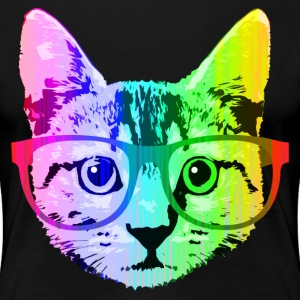 Funny Rainbow Cat - Women's Premium T-Shirt