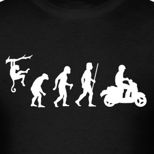 Moped Evolution of Man - Men's T-Shirt