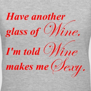 Wine Makes Me Sexy - Women's V-Neck T-Shirt