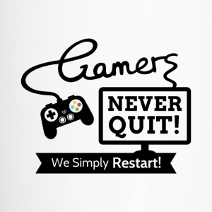 Gamers Never Quit Quote Mugs & Drinkware - Travel Mug
