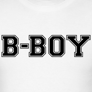 bboy varsity college style text logo t-shirt - Men's T-Shirt