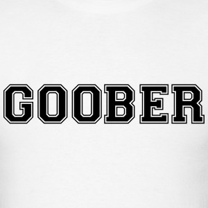 goober varsity college style text logo t-shirt - Men's T-Shirt