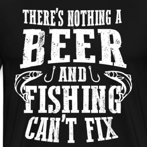 Fishing and Beer - Men's Premium T-Shirt